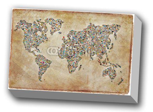 carte du monde grunge-0
