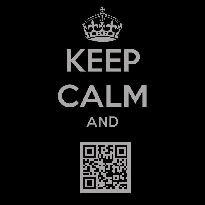 tableau keep calm QR-Code