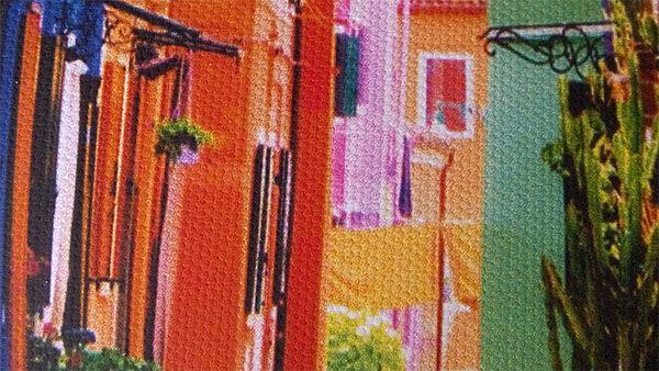 Détails d'une toile à grains fins fabriquée en France