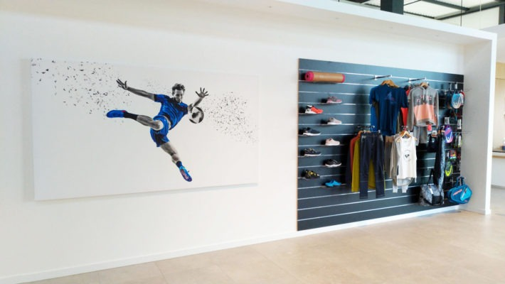 toile murale grand format club de sport etincelle selestat wallprint